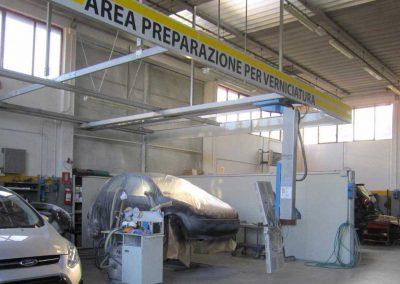 area preparazione verniciatura vigonza